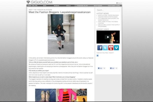 Entrevista para el sitio GIGLIO http://blog.giglio.com/en/meet-the-fashion-bloggers-laspalabrasjamasalcanzan/