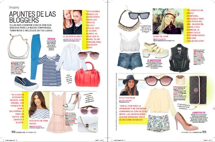 Nota Revista COSMOPOLITAN. Edición impresa, Septiembre 2014.
